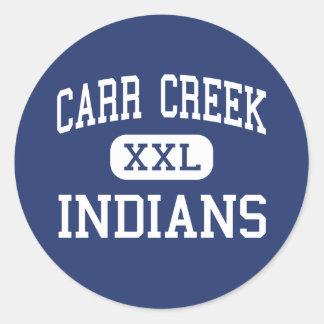 Carr Creek - Indians - High - Littcarr Kentucky Classic Round Sticker