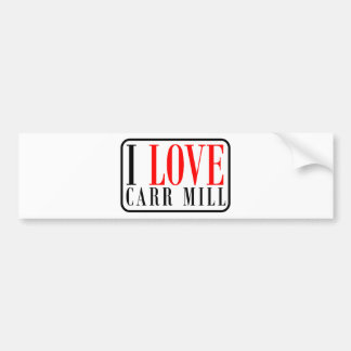 Carr Mill, Alabama City Design Bumper Sticker