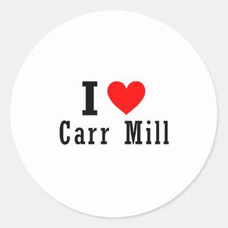 Carr Mill, Alabama City Design Classic Round Sticker