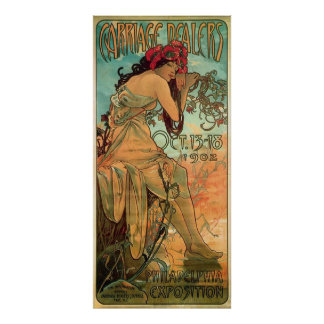 Carrage Dealers Advertisement by Alphonse Mucha Poster