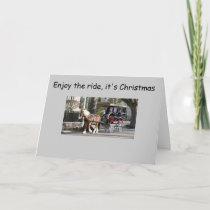 CARRAIGE RIDE CHRISTMAS GREETING HOLIDAY CARD