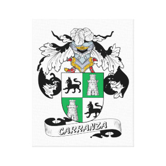 Carranza Family Crest Canvas Print