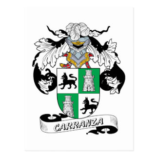 Carranza Family Crest Postcard