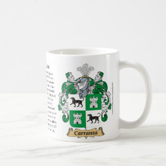 Carranza, the Origin, the Meaning and the Crest Coffee Mug