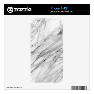 Carrara marble decal for iPhone 4S