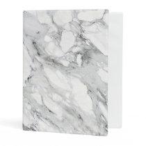 Carrara Marble Pattern Faux Stone Binder
