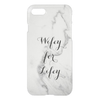 Carrara Marble Wifey for Lifey iPhone 7 Case