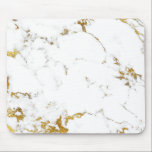"""Carrara Minimal Lux Gold White Gray Marble Mouse Pad<br><div class=""""desc"""">Modern Abstract Contemporary Design    Italian Design Florence fashion  florenceK</div>"""