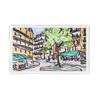 Carrefour de l'Odeon, Paris, France Acrylic Tray
