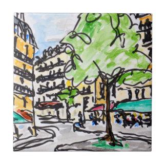 Carrefour de l'Odeon, Paris, France Ceramic Tile