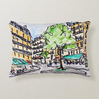 Carrefour de l'Odeon, Paris, France Decorative Pillow