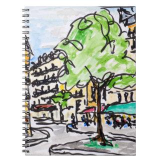 Carrefour de l'Odeon, Paris, France Notebook