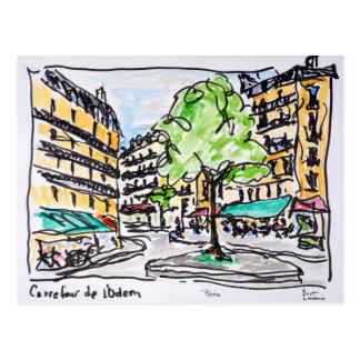 Carrefour de l'Odeon, Paris, France Postcard