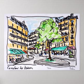 Carrefour de l'Odeon, Paris, France Poster