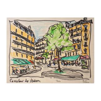 Carrefour de l'Odeon, Paris, France Wood Wall Art