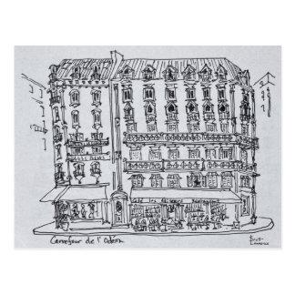 Carrefour de l'Odeon, Saint-Germain-des-Pres Postcard
