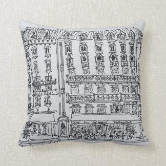 Carrefour de l'Odeon, Saint-Germain-des-Pres Throw Pillow