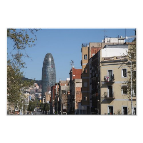 Carrer de Badajoz and Torre Agbar, Barcelona