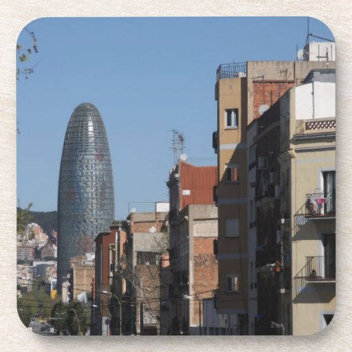 Carrer de Badajoz y Torre Agbar, Barcelona Posavasos
