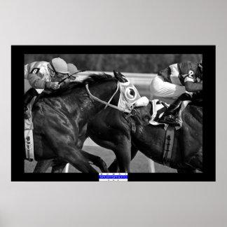 Carrera de caballos 002 B&W Mowat SpPh Impresiones