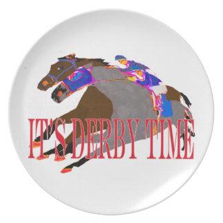 carrera de caballos 2016 del tiempo de derby plato de cena