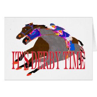 carrera de caballos 2016 del tiempo de derby tarjeta de felicitación