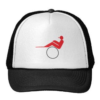 Carrera de caballos 2 gorras de camionero