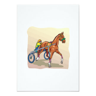 "Carrera de caballos 3 invitación 5"" x 7"""