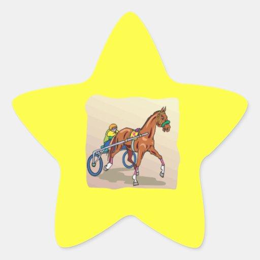 Carrera de caballos 3 colcomanias forma de estrella