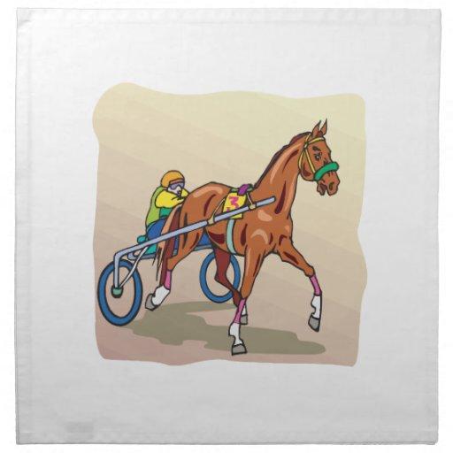 Carrera de caballos 3 servilleta de papel