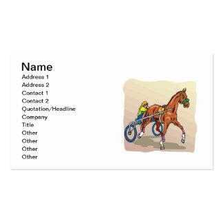 Carrera de caballos 3 tarjetas de visita