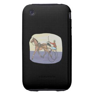 Carrera de caballos 4 iPhone 3 tough protectores