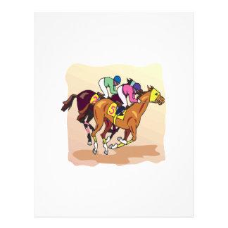 """Carrera de caballos 6 folleto 8.5"""" x 11"""""""