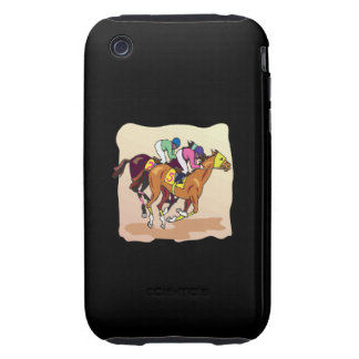 Carrera de caballos 6 iPhone 3 tough cárcasas