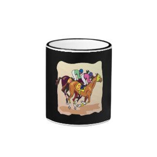 Carrera de caballos 6 taza de dos colores