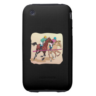 Carrera de caballos 7 iPhone 3 tough protectores