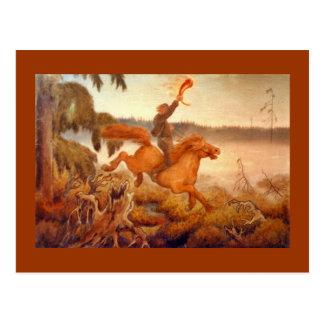 Carrera de caballos a través de la hierba 1902 tarjetas postales