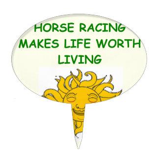 carrera de caballos decoración para tarta