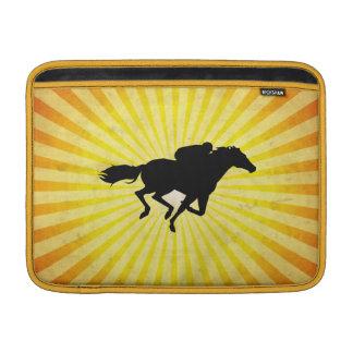 Carrera de caballos; amarillo fundas macbook air