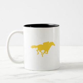 Carrera de caballos ambarina amarilla tazas