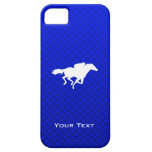 Carrera de caballos azul iPhone 5 protectores