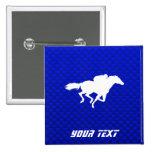 Carrera de caballos azul pins