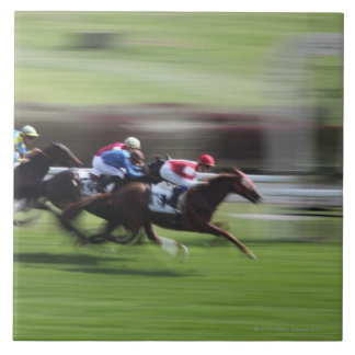 carrera de caballos azulejo cuadrado grande