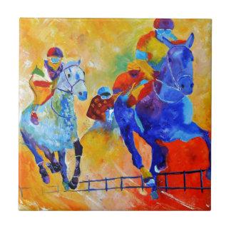 Carrera de caballos azulejo cuadrado pequeño