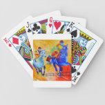 Carrera de caballos barajas de cartas