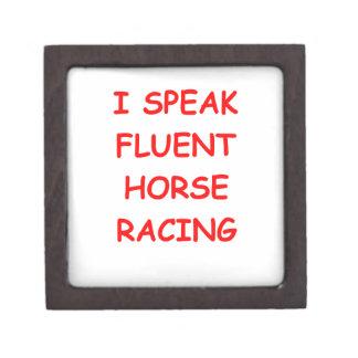 carrera de caballos cajas de joyas de calidad