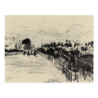 Carrera de caballos de Eduardo Manet Postales