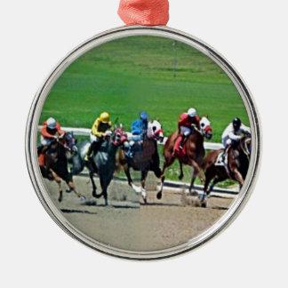 Carrera de caballos de Kentucky Adorno Navideño Redondo De Metal