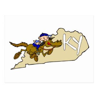 Carrera de caballos de Kentucky Postal