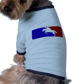 Carrera de caballos de la primera división ropa perro